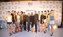 Shortlisted-models-with-jury-members-(Ashish-Soni,-Rohit-Gandhi,-Poonam-Bhagat-and-Rakesh-Thakore)-at-the-auditions-for-Amazon-India-Fashion-Week-Autumn-Winter-2015