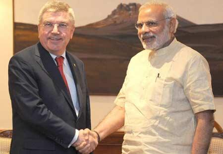 IOC-president-Thomas-Bach-with-Prime-Minister-of-India-Narendra-Modi